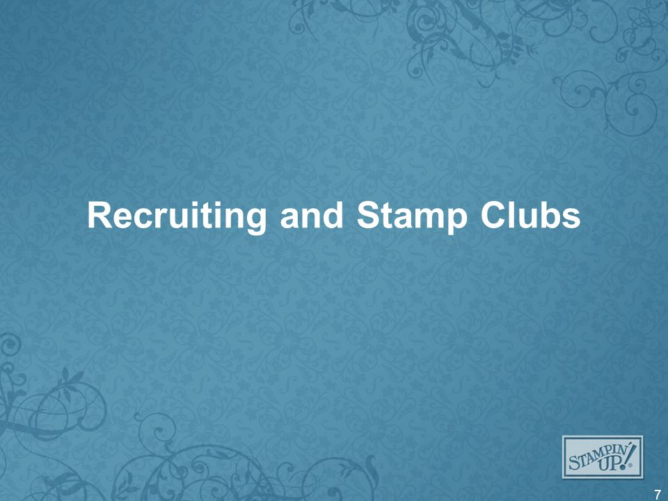 Recruiting and Stamp Clubs 7