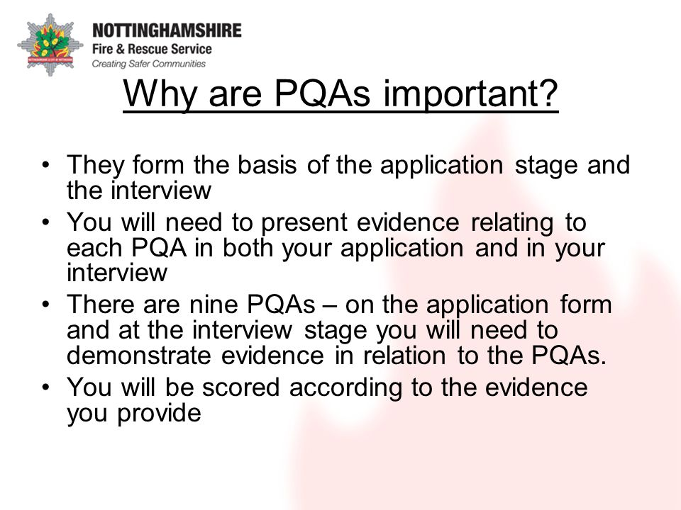 Why are PQAs important.