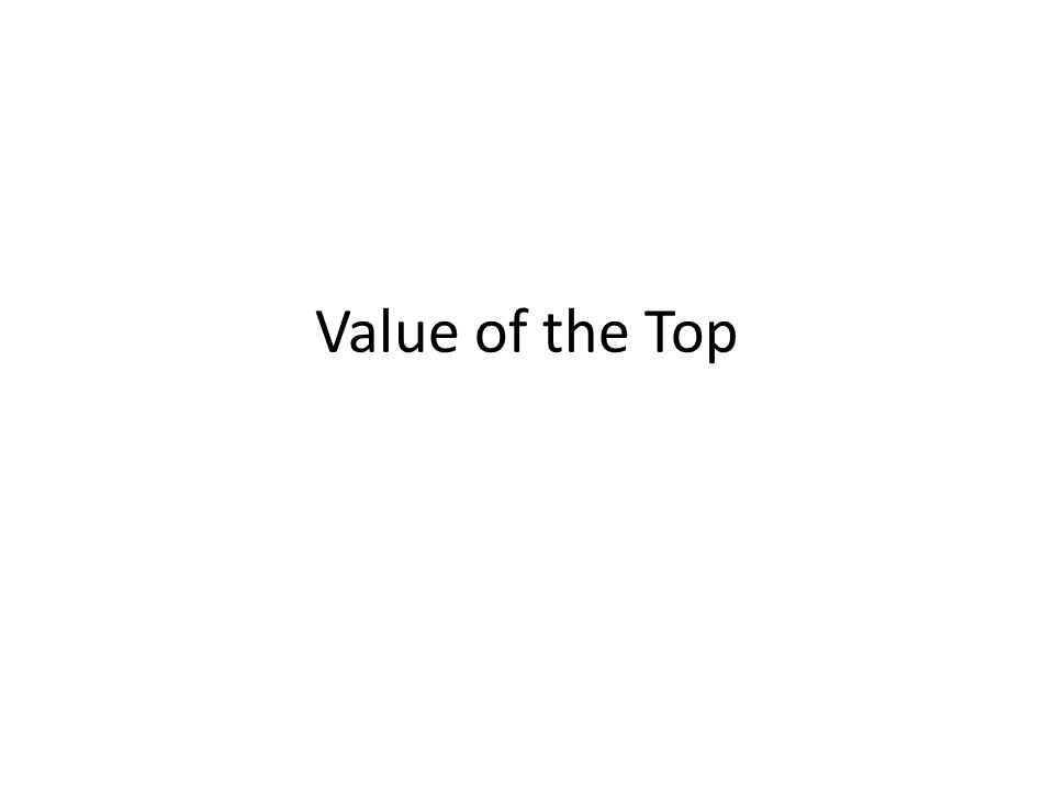 Value of the Top