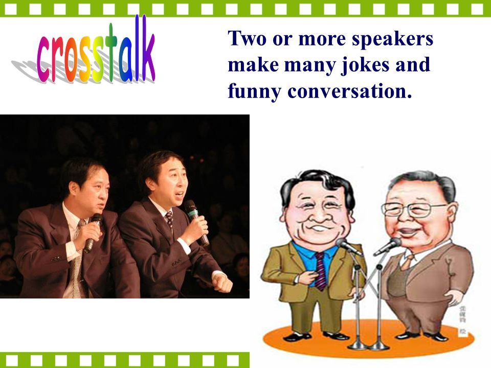 Two or more speakers make many jokes and funny conversation.