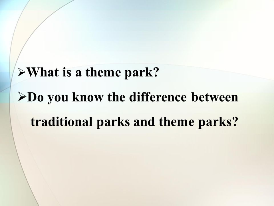 What is a theme park Do you know the difference between traditional parks and theme parks