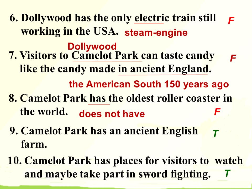 6. Dollywood has the only electric train still working in the USA.