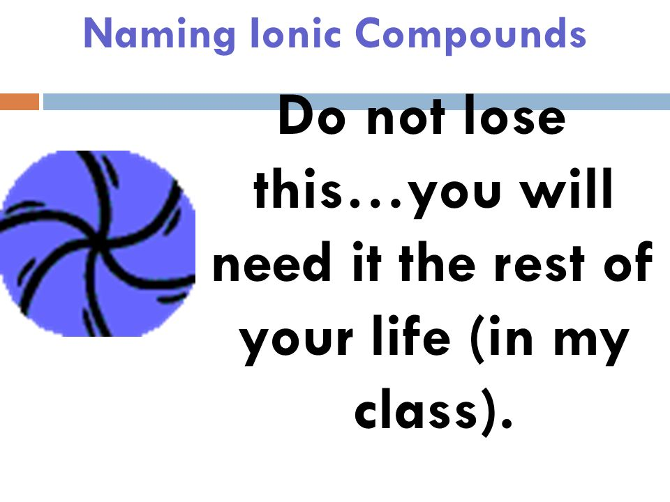 Naming Ionic Compounds Ionic Cheat Sheets!