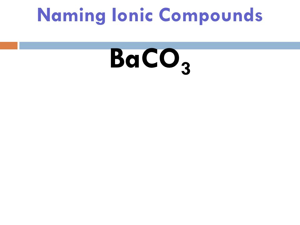 Naming Ionic Compounds 1) Look up the ions on the cheat sheet and write the words next to them.