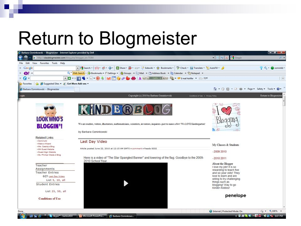 Return to Blogmeister