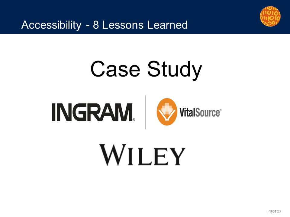 Page 23 Accessibility - 8 Lessons Learned Case Study