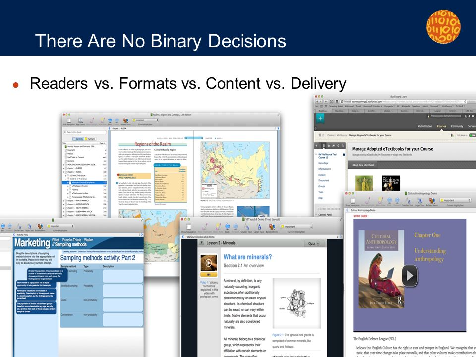 Page 25 There Are No Binary Decisions Readers vs. Formats vs. Content vs. Delivery
