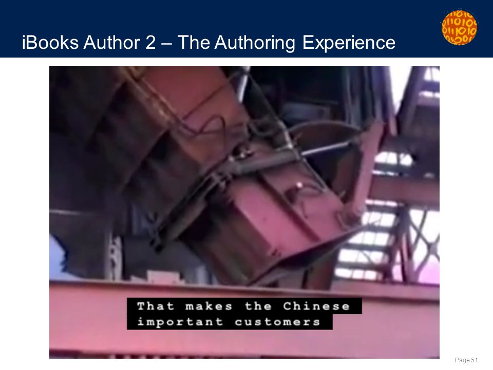 Page 51 iBooks Author 2 – The Authoring Experience