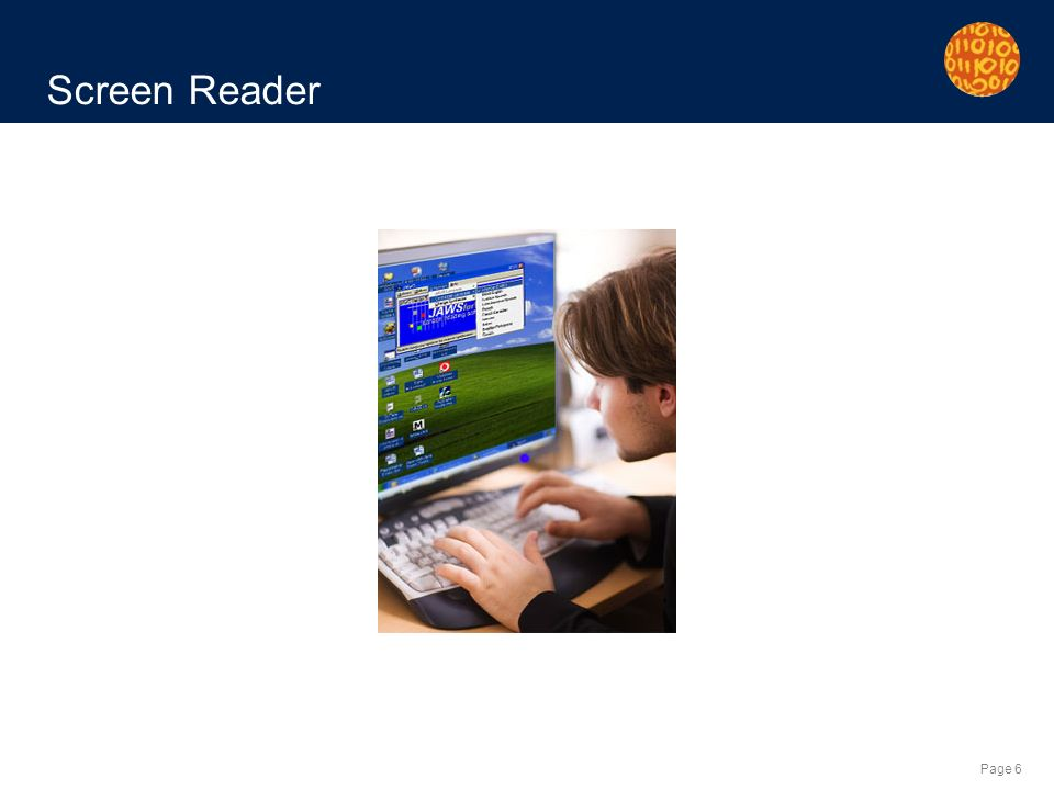 Page 6 Screen Reader