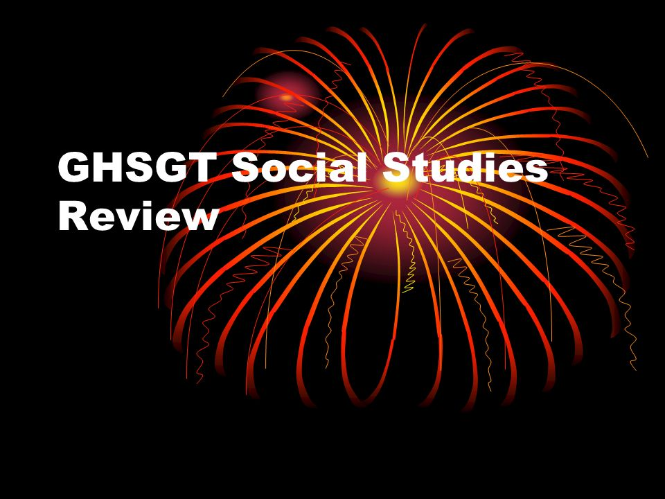 GHSGT Social Studies Review