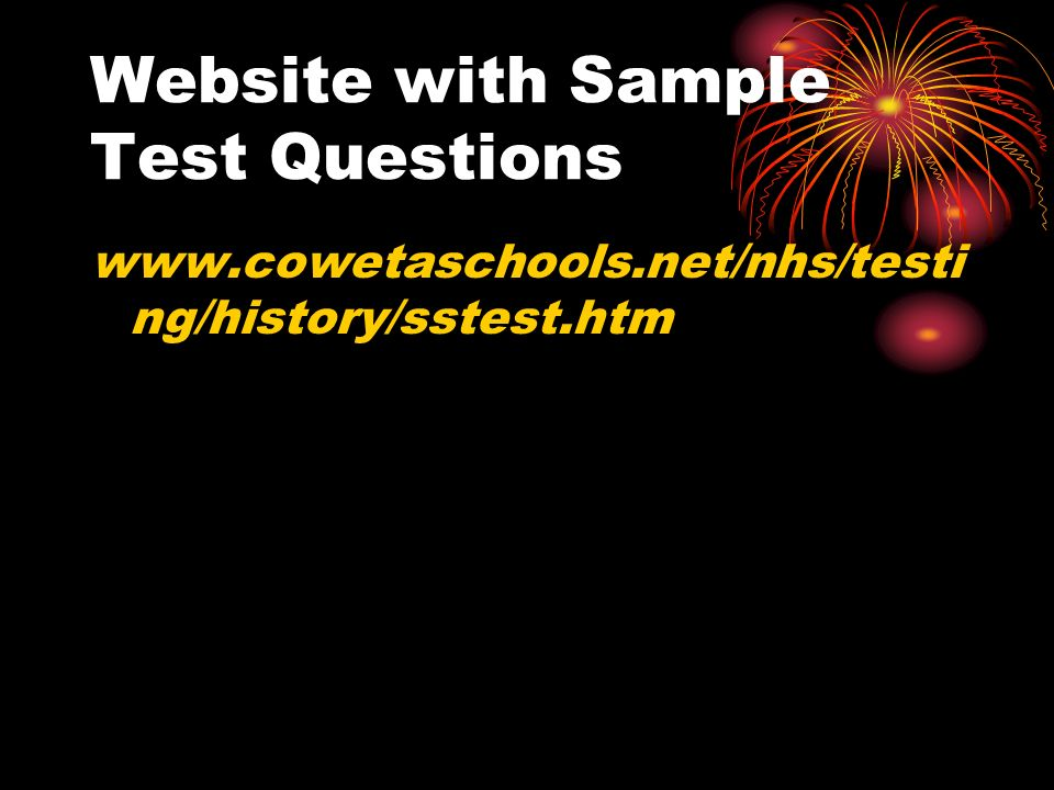 Website with Sample Test Questions   ng/history/sstest.htm