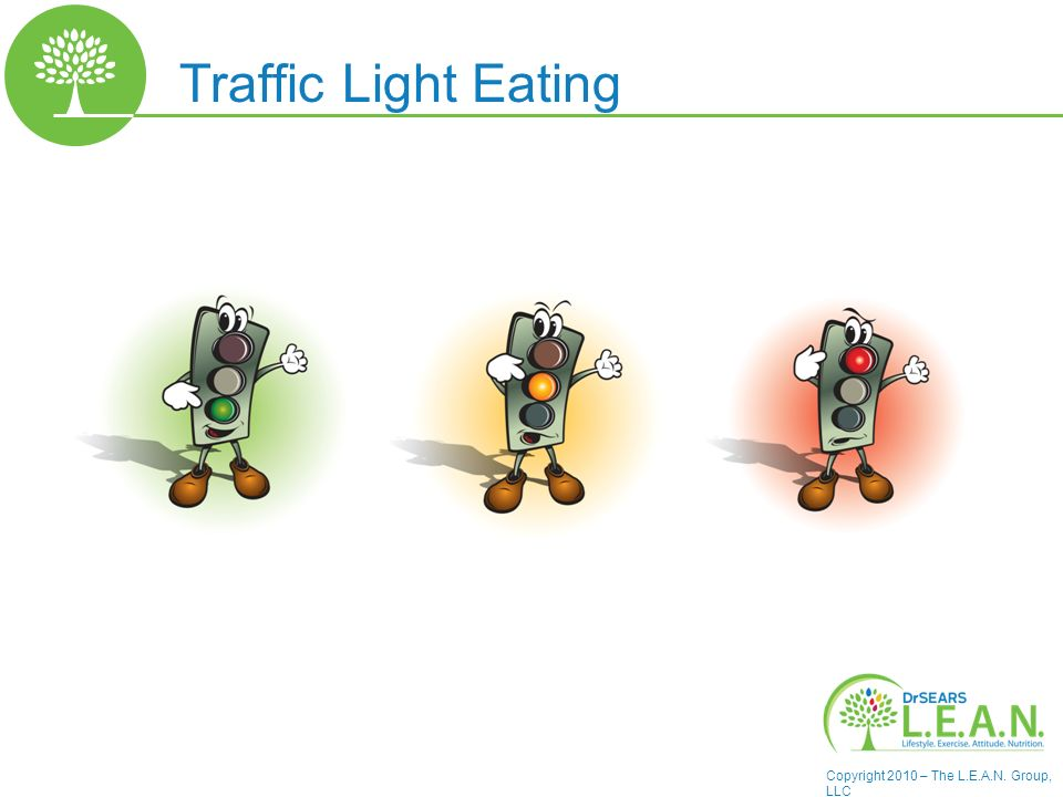 Copyright 2010 – The L.E.A.N. Group, LLC Traffic Light Eating