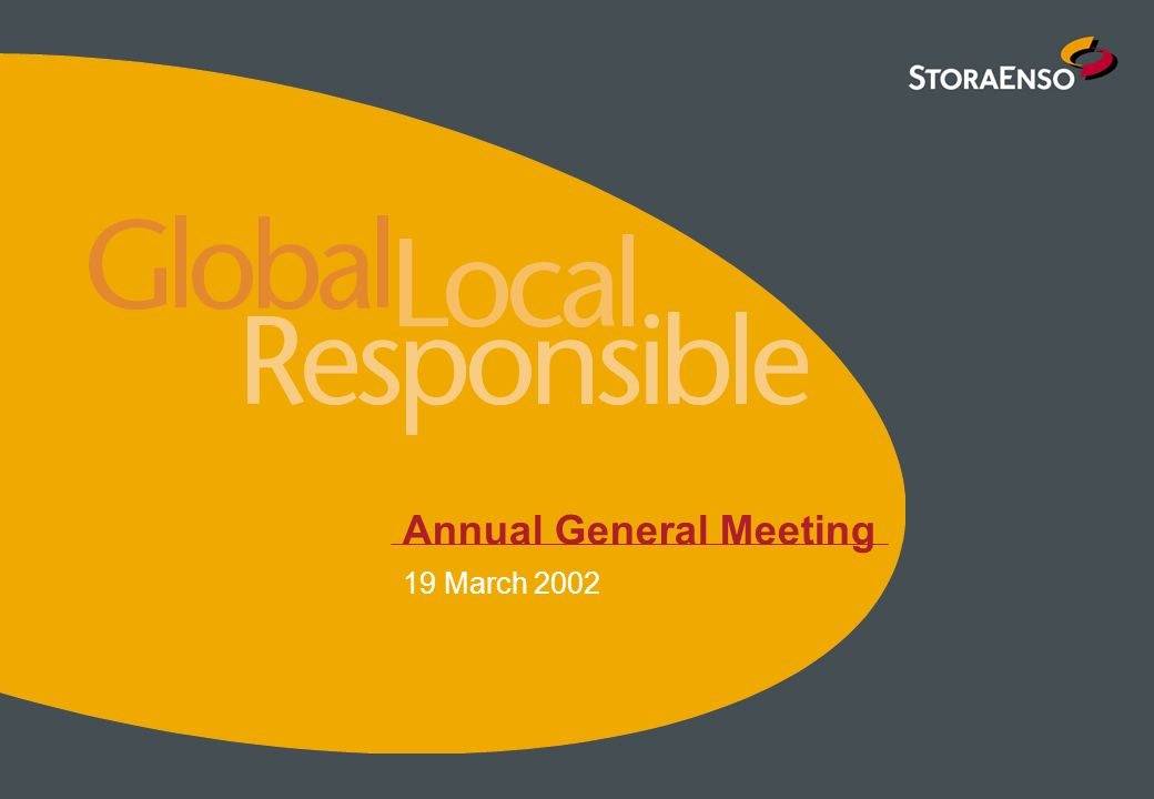 Annual General Meeting 19 March 2002