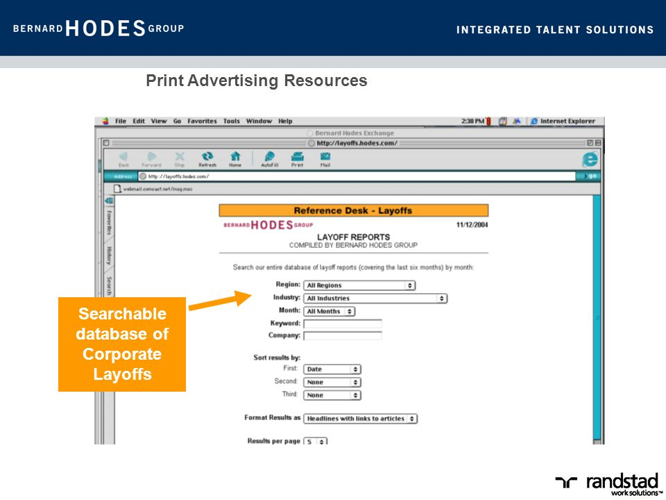 Print Advertising Resources Searchable database of Corporate Layoffs