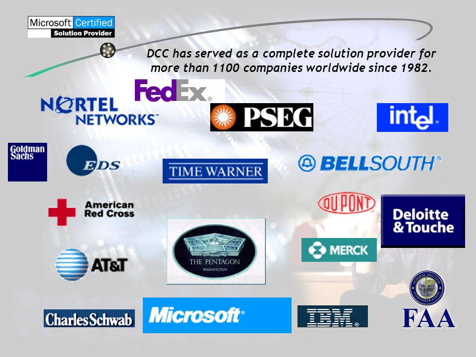 DCC has served as a complete solution provider for more than 1100 companies worldwide since 1982.