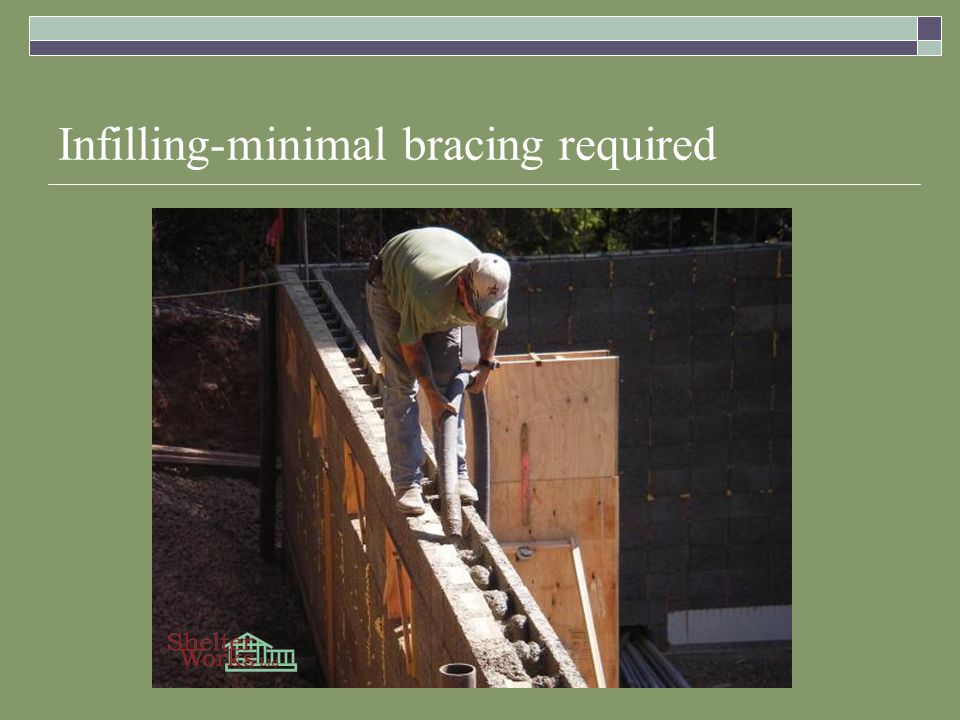 Infilling-minimal bracing required
