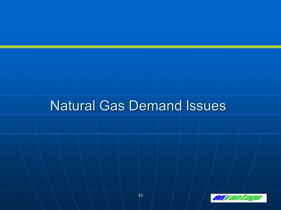 13 Natural Gas Demand Issues