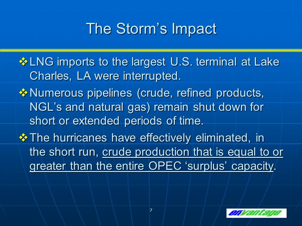 7 The Storms Impact LNG imports to the largest U.S.