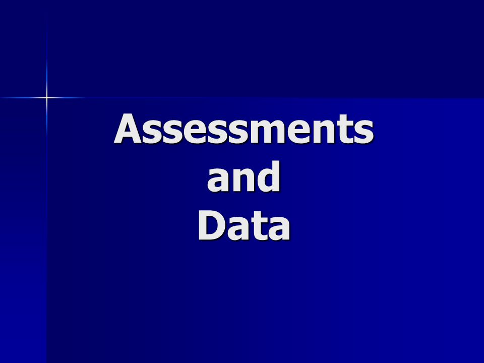 Assessments and Data