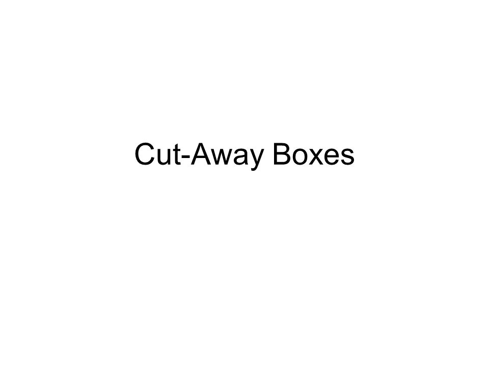 Cut-Away Boxes