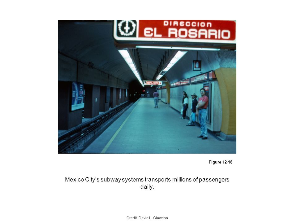 Figure Mexico Citys subway systems transports millions of passengers daily.