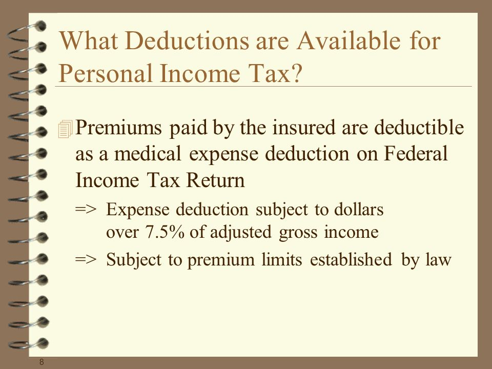 What Deductions are Available for Personal Income Tax.