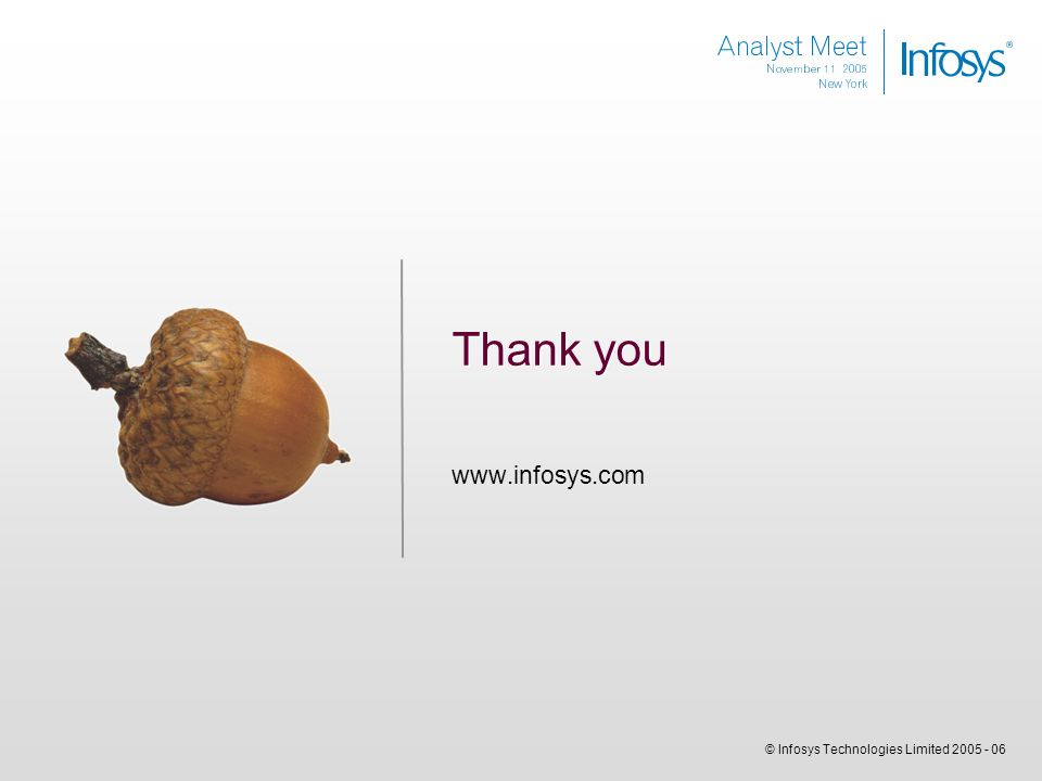 © Infosys Technologies Limited Thank you