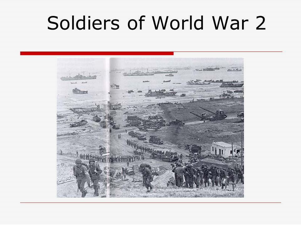 Soldiers of World War 2