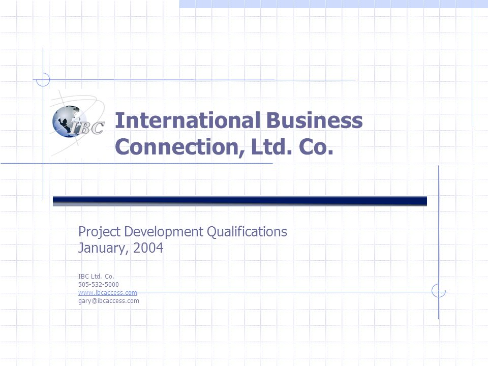 International Business Connection, Ltd. Co.
