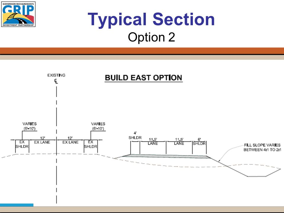 Typical Section Option 2