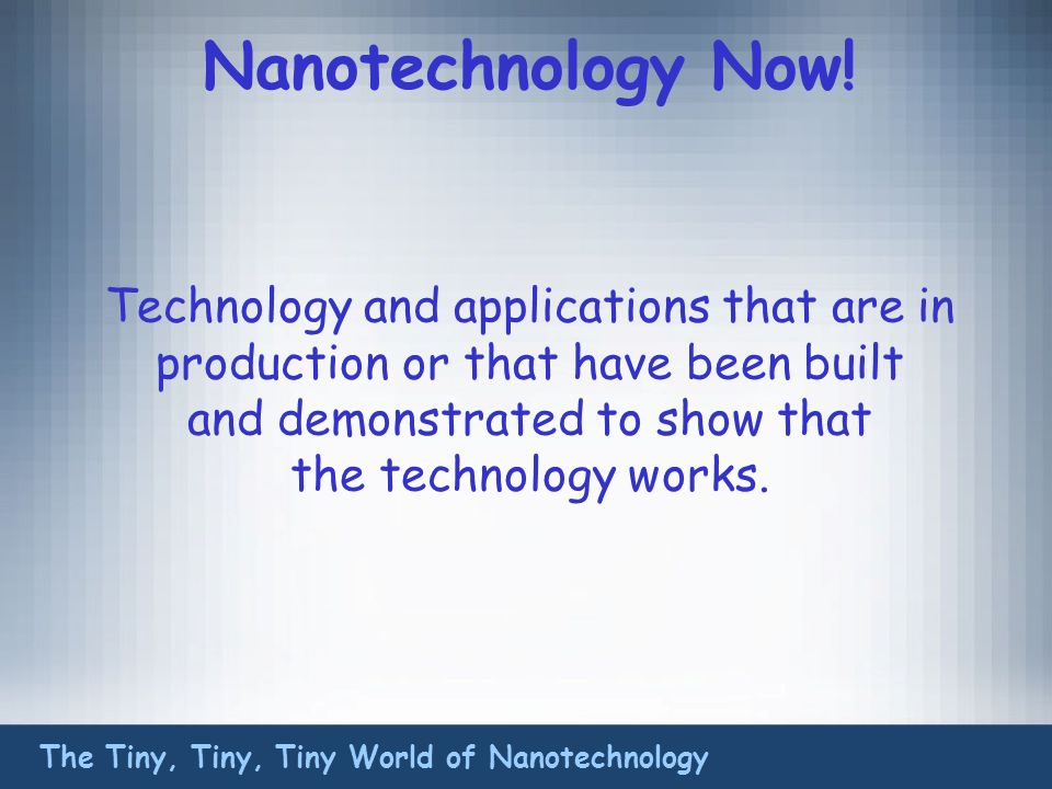 Nanotechnology Now.