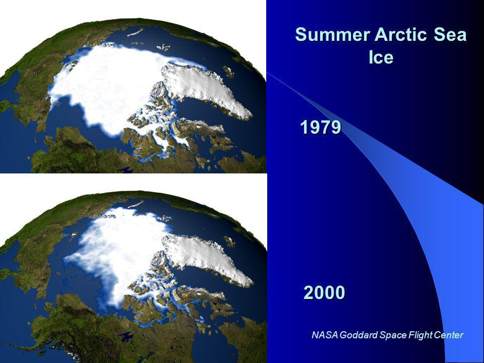 Summer Arctic Sea Ice 1979 2000 NASA Goddard Space Flight Center