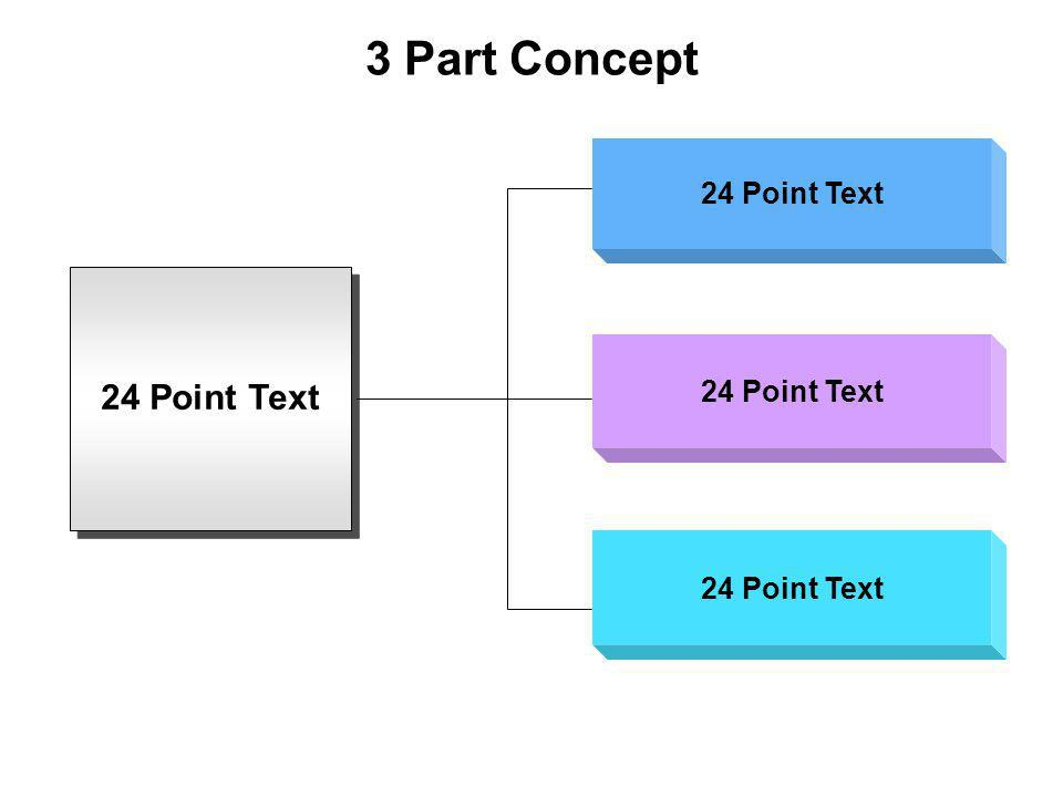 3 Part Concept 24 Point Text