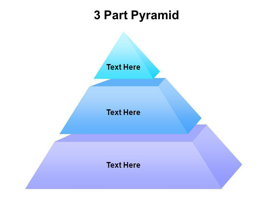 3 Part Pyramid Text Here