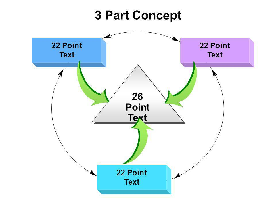 3 Part Concept 22 Point Text 22 Point Text 22 Point Text 26 Point Text 26 Point Text