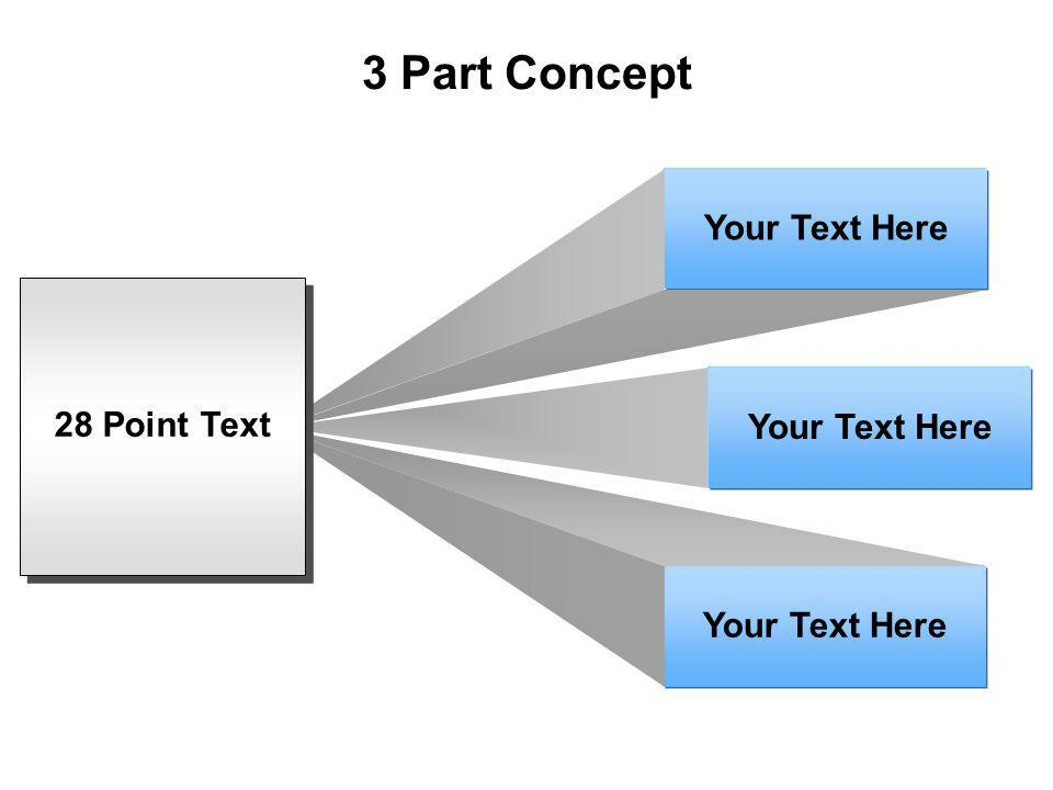 3 Part Concept Your Text Here 28 Point Text