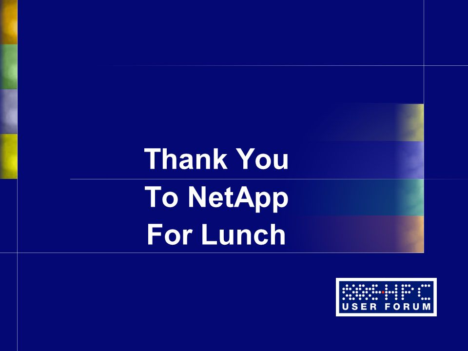 Thank You To NetApp For Lunch
