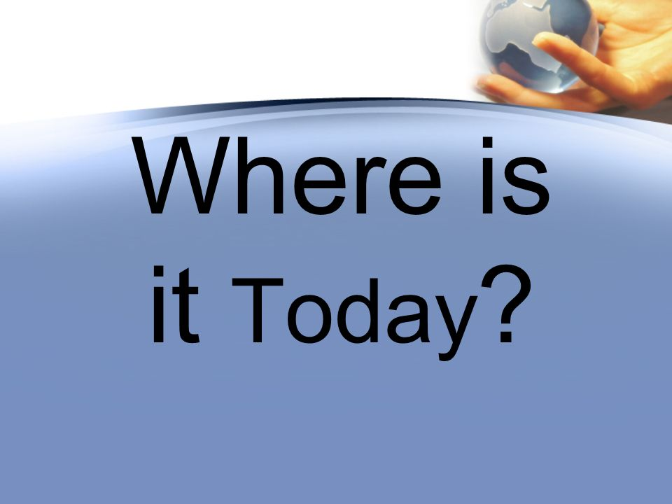 Where is it Today