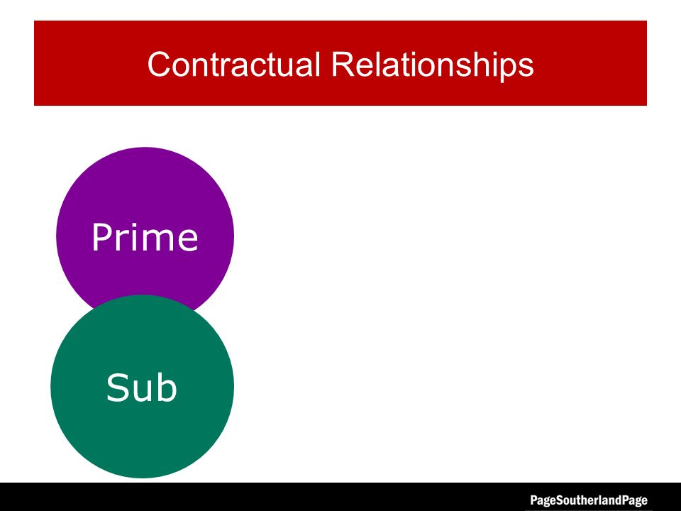 Prime Sub Contractual Relationships