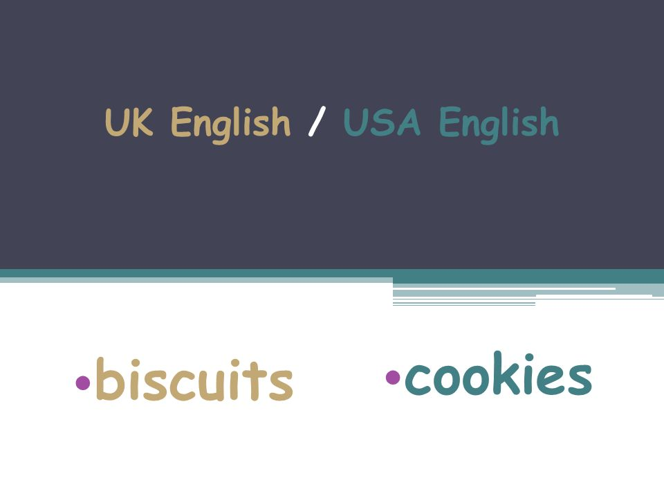 UK English / USA English biscuits cookies