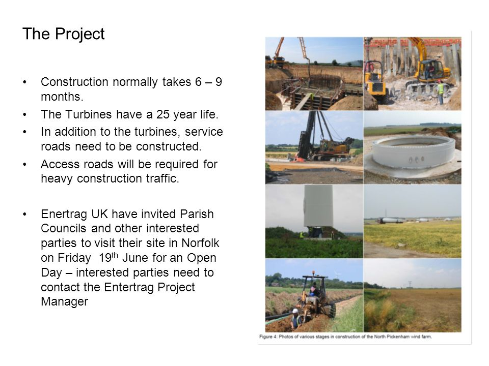 The Project Construction normally takes 6 – 9 months.