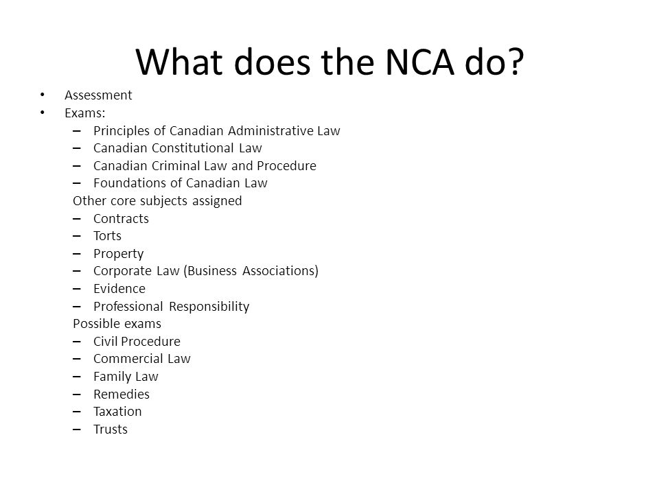 What does the NCA do.