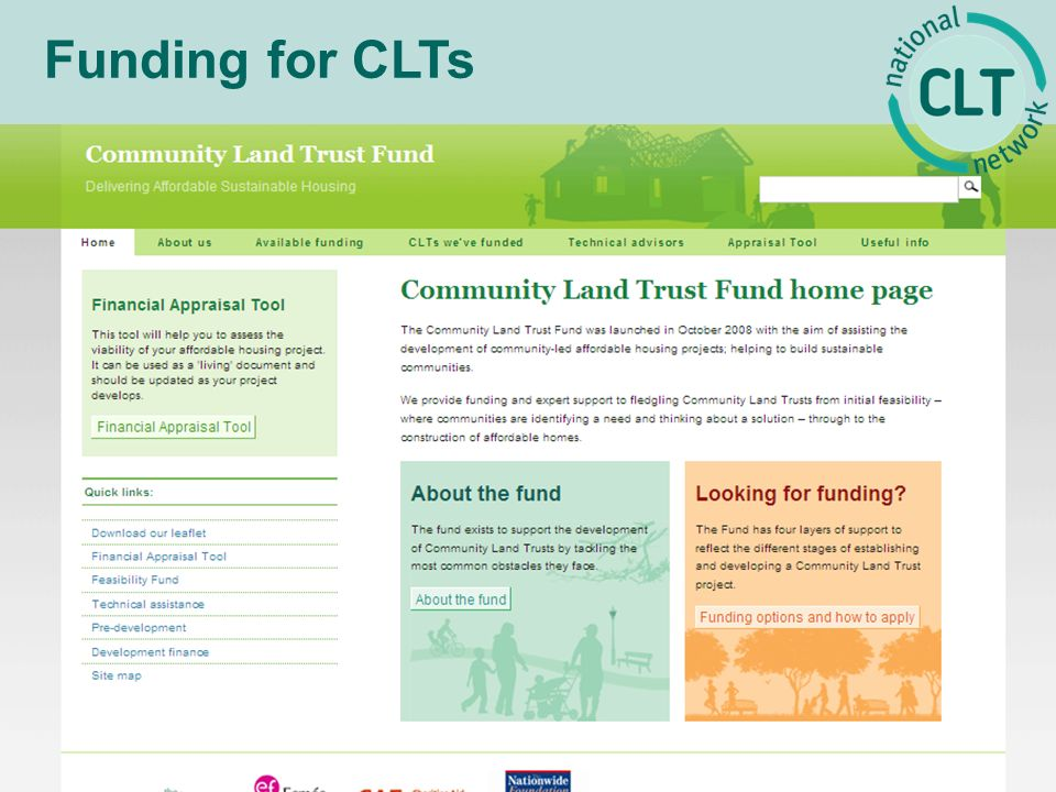 Funding for CLTs
