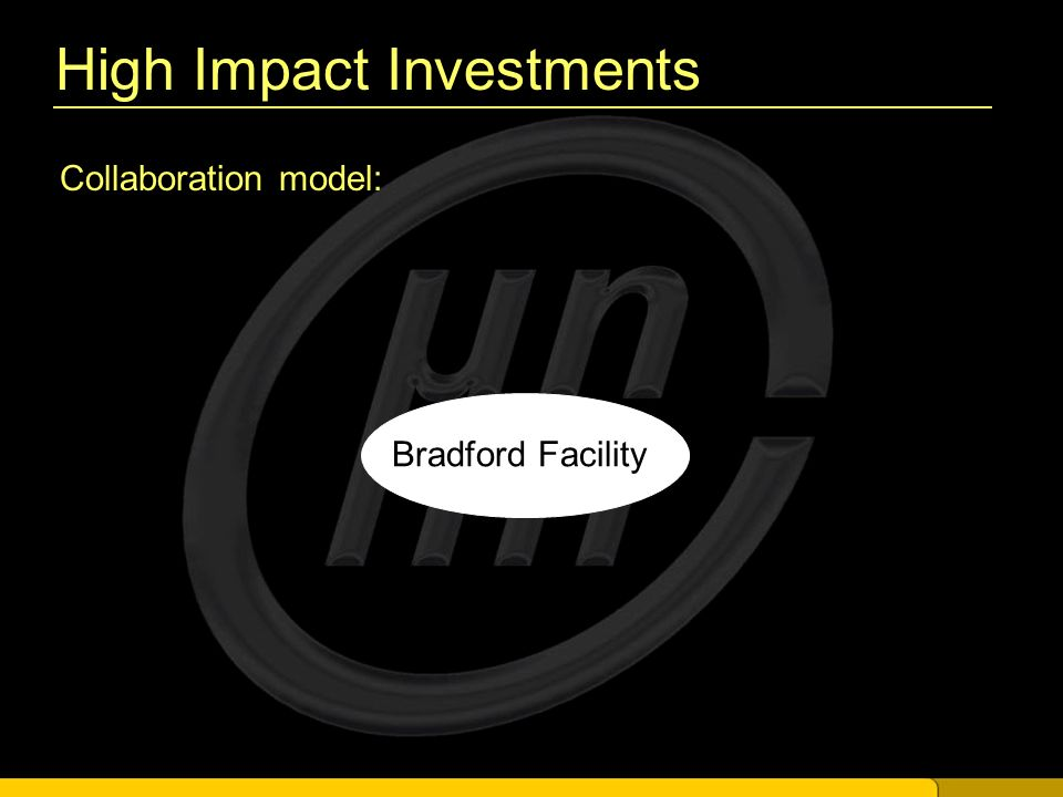 High Impact Investments Collaboration model: Bradford Facility