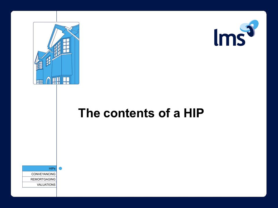 The contents of a HIP