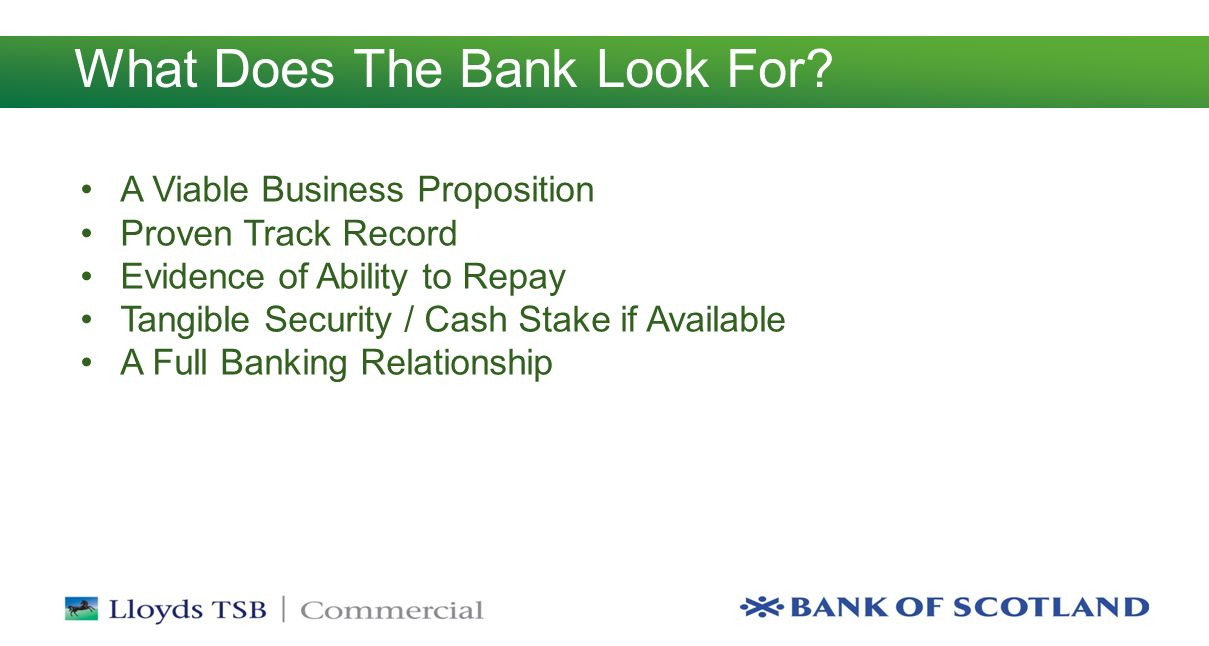What Does The Bank Look For.