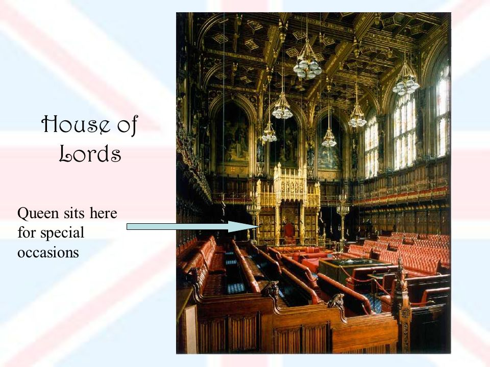 Queen sits here for special occasions House of Lords