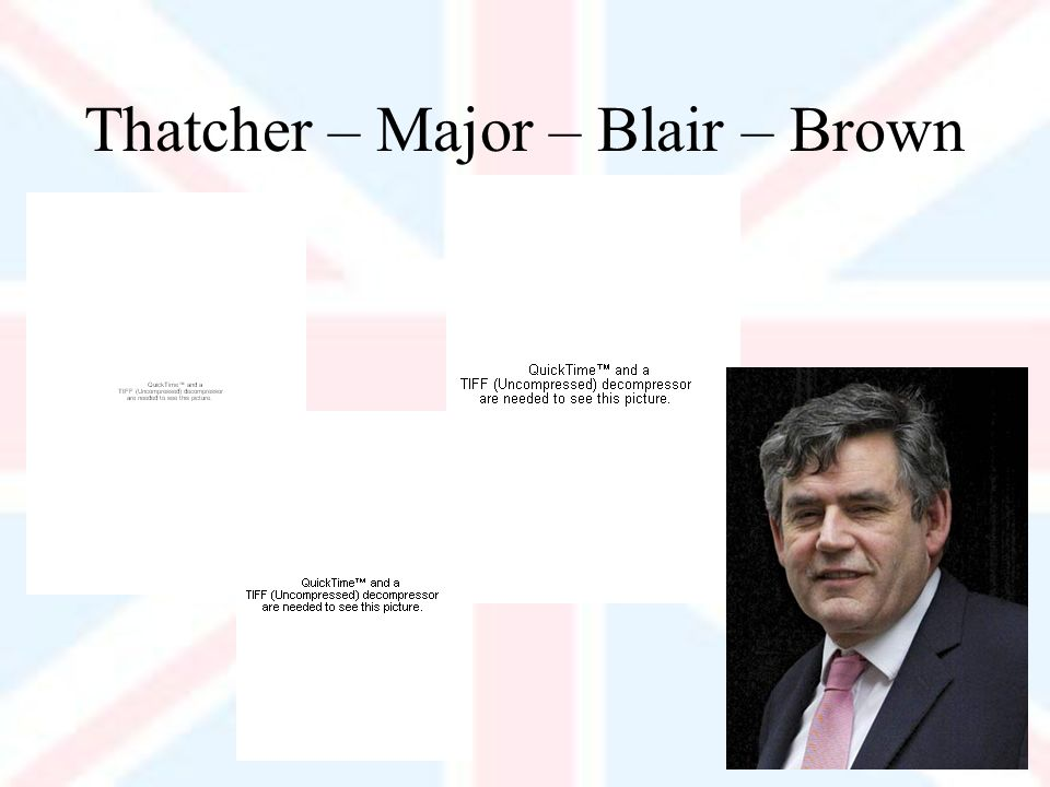 Thatcher – Major – Blair – Brown