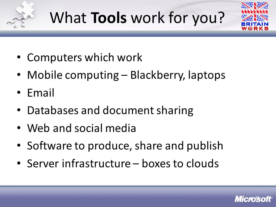 What Tools work for you.
