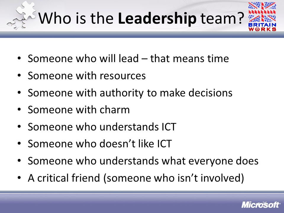 Who is the Leadership team.
